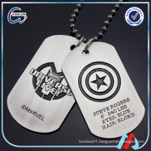 Soft enamel stainless steel dog tag high quality stainless steel tags