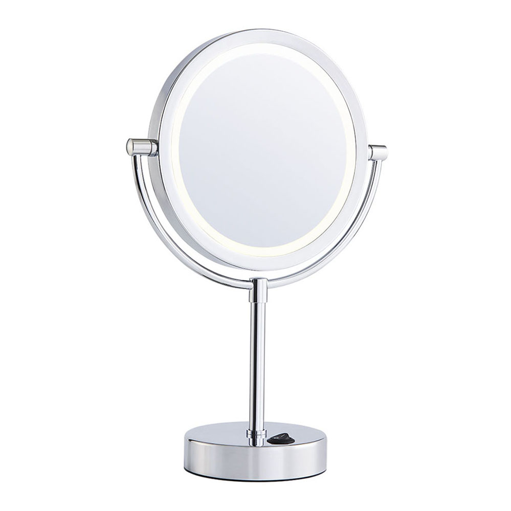 Two-sided+battery+vanity+mirror+with+light