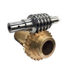 Precision Machined Brass Steel Worm Gear Set