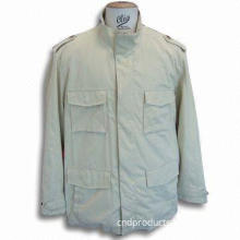 Men's Jacket, Made of 54% Polyester, 13% Nylon and 33% Cotton, Available in Camel Color