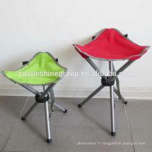 Plein air chaise pliante de pêche gonflable avec sac de transport pour la chasse.