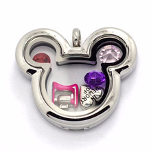 Оптовая Микки Маус плавающие подвески медальоны ювелирные изделия