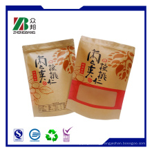 Customized Paper Packaging Flat Bottom Bag with Clear Window