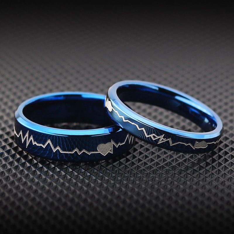 Heartbeat Wedding Ring