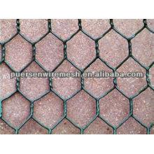 Malla de malla de alambre hexagonal para gabion