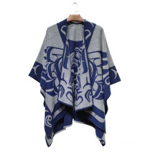 Woman Fashion Acrylic Woven Dobby Jacquard Winter Shawl (YKY4505)
