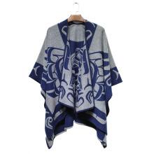 Женщина мода акриловый Сплетенный Добби Жаккардовые зима шали (YKY4505)