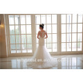 2017 new classic boat neckline beaded applique bride's ball grown wedding dress