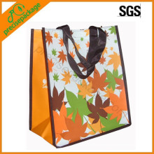 custom resumable laminated PP non woven shopping bags