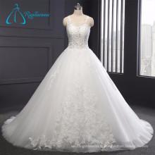 Tulle Simple Elegant Lace Appliques Sexy Robe de mariée blanche