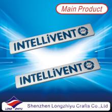 Placa de identificación de plata del grabado y del esmalte con la etiqueta engomada auta-adhesivo