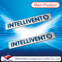 Silver Engraving and Enamel Logo Nameplate with Self Adhesive Sticker