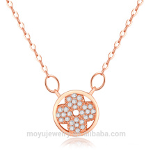 Micro проложить cz камни кнопку кулон моды простые ожерелья 2015
