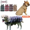Reversible England Checked Design Winter Apparel Sport Pet Dog Jacket