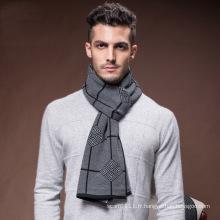 Écharpe tissée acrylique d'hiver de polyester de laine de polyester de mode des hommes (YKY4620)