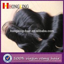 Fermeture européenne de dentelle de manière de 3 manières de cheveux humains avec des cheveux de bébé