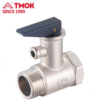 Soupape de sûreté de TMOK en laiton avec la soupape de sécurité de soupape de sécurité de poignée de sécurité de poignée en plastique pour la chaudière de l'eau