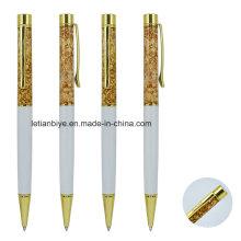 Pluma flotante del regalo de la promoción del papel de la hoja de oro (LT-C055)