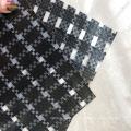 filme transparente de grade preta tecida