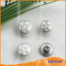 Botão de prata feito sob encomenda das calças de brim BM1694