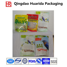 Plastikhaustier-Lebensmittelverpacken, Ziplock stehen oben Haustier-Lebensmittel-Tasche