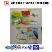 L'emballage en plastique d'aliment pour animaux de compagnie, zip-lock tiennent le sac de nourriture pour animaux de compagnie