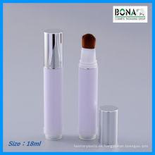 Botella cosmética 2016 con el cepillo de la pluma del cuidado del cabello
