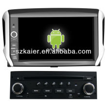 Android System car dvd player for Peugeot 208 with GPS,Bluetooth,3G,ipod,Games,Dual Zone,Steering Wheel Control