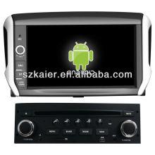 leitor de DVD do carro para o sistema Android Peugeot 208