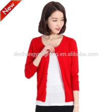 2017 spring knit cardigan thin cashmere sweater wool jacket