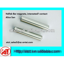 High Quality Rod Neodymium Magnet/ rare earth magnet rod