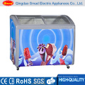 Portable Sliding Glass Door Top Open Chest Freezer for Ice Cream