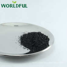 leonardite refined potassium humate shiny black flake, K humic flake fertilizer
