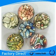 Promotional custom glass fridge magnet/crystal glass fridge magnet