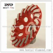 Metal diamond cup grinding wheels for concrete and stones coarse grinding