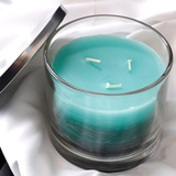 Silver Lid Layered Scented Candles with 3 Wicks