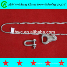 Equipamento de fibra óptica, tipo pré-formada grip fio coberto braçadeira de preformados