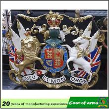 Europe Style 3D Royal Metal Emblem
