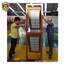 1.4mm thickness aluminium frame frosted glass bathroom top hung window 2700x2550