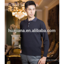 basic design Herren Kaschmir Polo Pullover