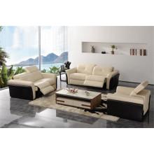 Juegos de sofá de muebles de cuero genuino