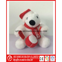 Ce China of Plush Ice Bear for Chrismtas