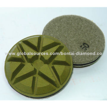 Diamond polishing pad for granite and marble