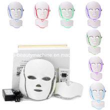 7 Cores PDT Photon LED Máscara Facial Pescoço Sistema Inteligente LED Máscara de Luz Terapia para a Máscara de Beleza Anti-Envelhecimento