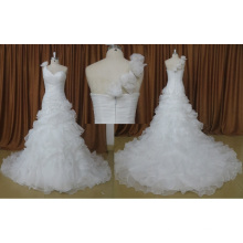 One Shoulder Sweetheart Pleated Bridal Dress
