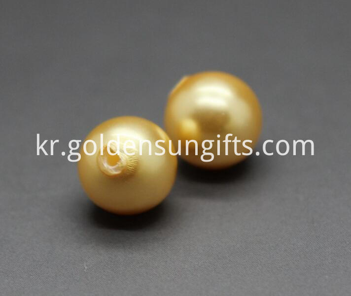 Golden Shell Pearl Beads