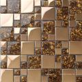 Carrelage mural en mosaïque en acier inoxydable, mosaïque en verre (SM211)