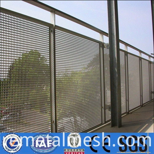 Dust Suppression Perforated Metal Mesh