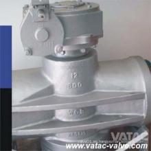 Válvula de enchufe Dbb con brida RF CF8 / CF8m accionada por engranajes