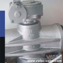 Cast CF8/CF8m Gear Operated RF Flanged Dbb Plug Valve